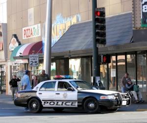 Police on Fremont Street