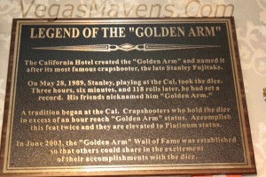 Golden Arm Plaque at the California