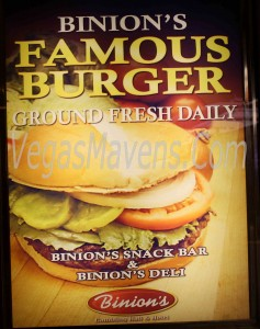 Binion's Famous Burgers - Ground Fresh Daily