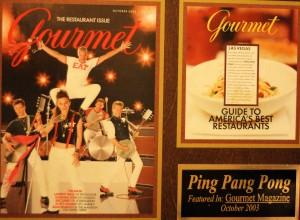 Gourmet Magazine Restaurant Issue October 2003
