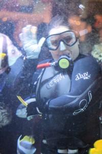 Caesars Palace Aquarium: Diver Wave