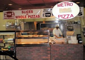 Metro Pizza inside Ellis Island