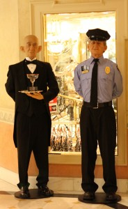 Caesars Palace Appian Way: Realistic Figures Butler and Police Officer