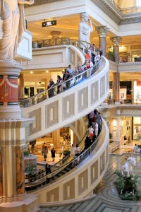 The Forum Shops Spiral Escalator