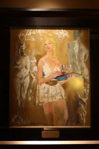 Caesars Palace Poker Room: LeRoy Neiman Painting