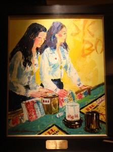 LeRoy Neiman Painting:  The Girls of Caesars Palace