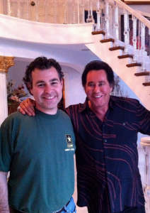 Steve Friess with Mr. Las Vegas (Wayne Newton)